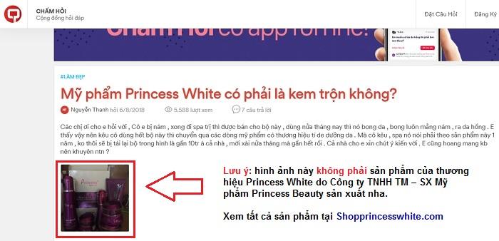 mỹ phẩm princess white có phải là kem trộn hay không